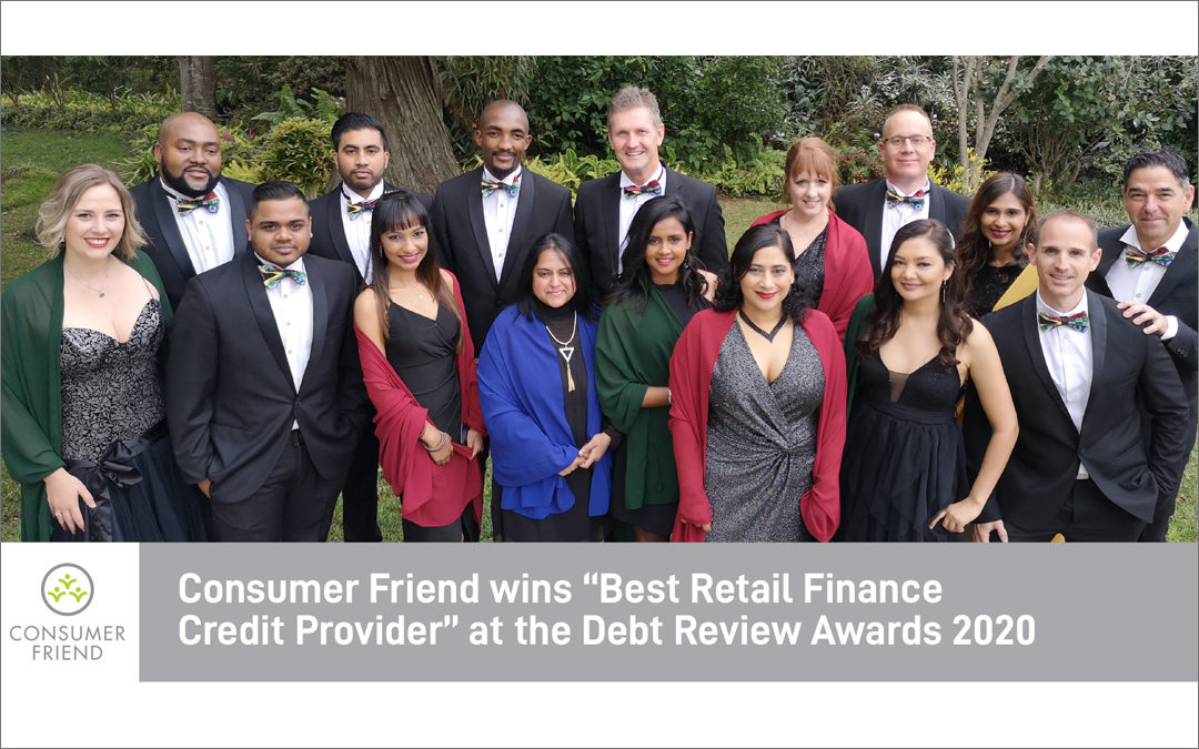 "Consumer Friend wins ""Best Retail Finance Credit Provider"" at the Debt Review Awards 2020"